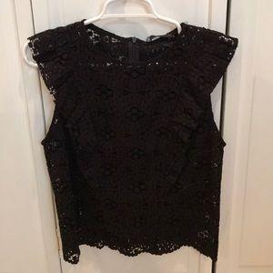 NWT Zara Lace Blouse w/ Lace Ruffle